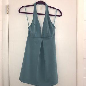 NWT: Urban Outfitters: Halter Backless Blue Dress